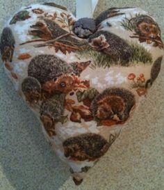 Handmade Hedgehog Fabric Lavender Bag - Handmade