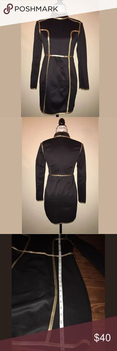 Rare London black dress size large us 8 Gently used, excellent condition. Rare London dress,black,size Large us 8. Measurements and details in pictures. Rare London Dresses Midi