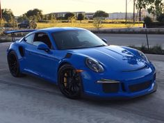 Porsche 991 GT3 RS painted in paint to sample Voodoo Blue  Photo taken by: @ptsrs on Instagram