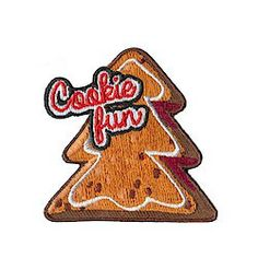 Cookie Fun Patch for your Girl Scout holiday baking, cookie exchange or cookie decorating.  Available at MakingFriends.com