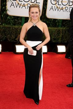 Hayden Panettiere was all smiles at the Golden Globes.