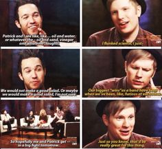 Fall Out Boy | funny. Patrick is better. Just saying.