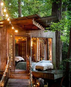 She Sheds are small dwellings or shelters in a backyard, that are about the size of a garden shed (or a bit bigger), that can be used as a quiet getaway . Outdoor Bedroom, Outdoor Living, Outdoor Daybed, Future House, My House, She Sheds, Play Houses, My Dream Home, Outdoor Spaces