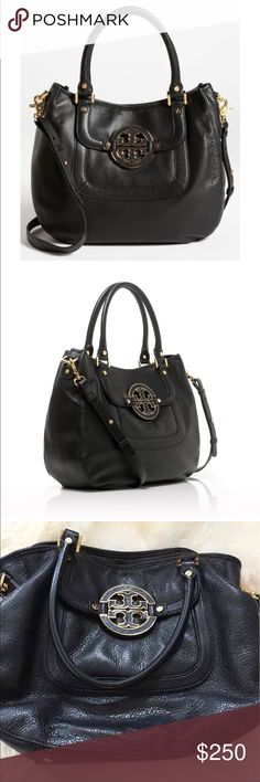 Tory Burch Amanda Hobo Bag Black Tory Burch Amanda Hobo Bag Black Leather. Excellent condition, only carried a handful of times. I lost the black strap so the strap isn't included. Check out my other listings for Michael Kors, BCBG, Kate Spade, Kendra Scott, etc. Tory Burch Bags Hobos
