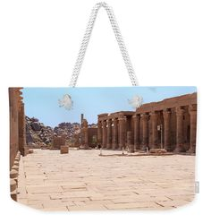 Temple Weekender Tote Bag featuring the photograph Temple Of Isis by Silvia Bruno