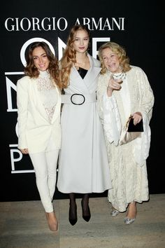 Armani Privé | Spring 2014 Couture Collection | Style.com, front row, Beatrice Borromeo, center, and Marta Marzotto, right.