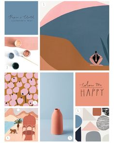 With the addition of those gorgeous earthy tones, this pink and blue palette is . - With the addition of those gorgeous earthy tones, this pink and blue palette is the perfect update for It conjures up desert advent… - {hashtag} Blue Palette, Colour Pallette, Colour Schemes, Earthy Color Palette, Earthy Colours, Bold Colors, Tableaux D'inspiration, Desert Colors, Design Studio