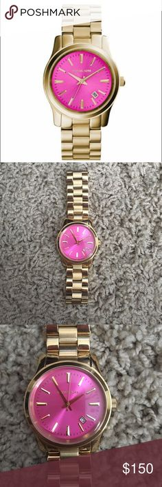 Michael Kors Pink and Gold Watch! Michael Kors Pink Watch! Fits a small wrist! Doesn't come with box or extra links. Excellent condition Michael Kors Accessories Watches