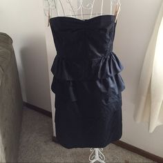 J. Crew double peplum dress No rips or stains. This item is in good condition but it has been worn. Please ask any questions before purchasing. This item will only be traded for an authentic Chanel autographed original, a Lamborghini, or a penthouse in Paris. Offers submitted in comments will be ignored J. Crew Dresses