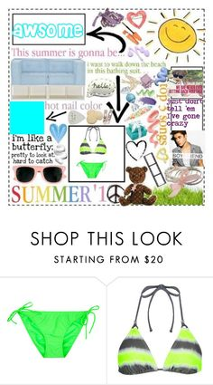 """summer"" by baileywilliamson ❤ liked on Polyvore featuring interior, interiors, interior design, home, home decor, interior decorating, Full Tilt, Gossip Collection and Justin Bieber"