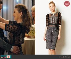 a61985dee8 AnnaBeth s black mixed lace and print dress on Hart of Dixie