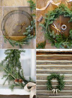 Easy DIY Holiday Wreath tutorial from @Once Wed.com #diyholiday #diywreath