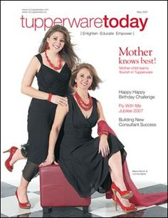 What a dream to grace the cover of Tupperware's Salesforce Magazine!!   Add to it making incredible memories with your Mom and you get another Magical Moment compliments of Tupperware!