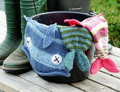 "Absolutely hilarious (not to mention easy) hat for both adults and kids alike. Adult is the ""fish"" kids is the ""guppy"" version.... both are free!    http://www.knitty.com/ISSUEwinter08/PATTfishy.php"