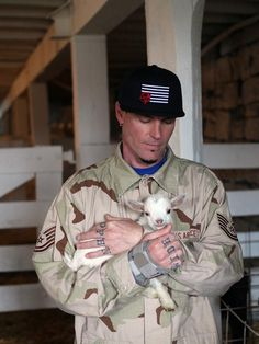 Vanilla Ice made some furry friends while filming Vanilla Ice Goes Amish >> http://www.diynetwork.com/vanilla-ice-goes-amish/show/index.html?soc=pinterest
