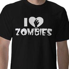 i heart zombies t shirt from http://www.zazzle.com/i+heart+zombies+tshirts