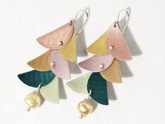 paper earrings art project - free instructions