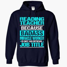 Awesome Shirt For Reading Teacher, Order HERE ==> https://www.sunfrog.com/LifeStyle/Awesome-Shirt-For-Reading-Teacher-2896-NavyBlue-Hoodie.html?41088