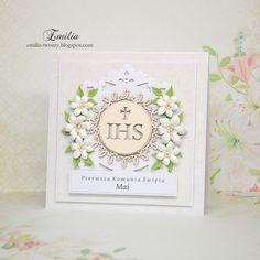 Emilia tworzy: Pierwsza Komunia Święta/Kartka komunijna/Card for Holy Communion Cute Cards, Frame, Decor, Picture Frame, Decoration, Pretty Cards, Frames, Decorating, Hoop