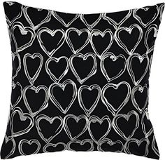 Betsey Johnson Betseys Boudoir Embroidered Heart Pillow