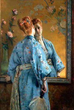 Alfred Stevens La parisienne Japonaise (1872)