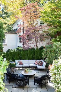 terrace Architectural Digest, Design Process, New Jersey, The Great Outdoors, Terrace, Tours, Patio, Traditional, Living Room