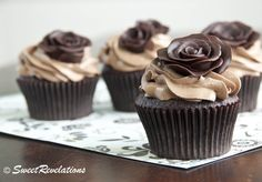 Chocolate Group of Roses