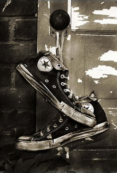 i should take a picture of mine sometime like this because mine are not going to be around much longer - #converselove