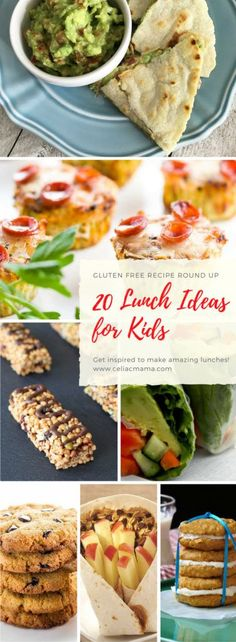 A round up of 20 gluten free lunch recipes that will keep your kids tummies happy and full. Enough inspiration to keep your creative juices flowing all year long!