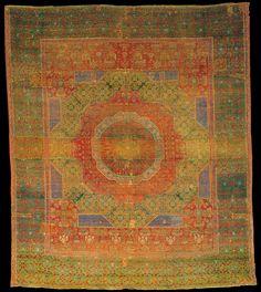 Mamluk carpet, Egypt, Cairo. ca. 1500. Wool. The Textile Museum R16.2.2