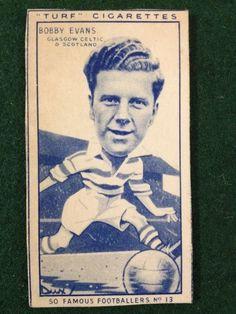 Carreras TURF 1951 FAMOUS FOOTBALLERS No.13 BOBBY EVANS GLASGOW CELTIC SCOTLAND  | eBay