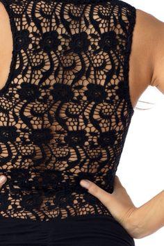 Sky Clothing Brand S Maxi Dress Mosi Black Knit Crochet Lace Back Mermaid Party | eBay