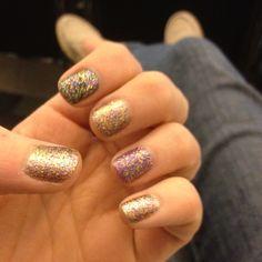 Mardi Gras nails :)