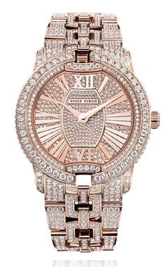 Roger Dubuis Velvet Rose Gold Jewelry Watch #roger-dubuis #horlogerie @calibrelondon