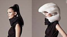 Meet the inflatable, 'invisible' bike helmet.      Interesting....