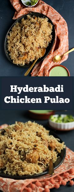 Hyderabadi Chicken Pulao - Pakistani Recipe - Flour & SpiceYou can find Pakistani food recipes and more on our website. Pakistani Rice Recipes, Pakistani Dishes, Indian Food Recipes, Chicken Pulao Recipe Pakistani, Indian Dishes, Healthy Chicken Recipes, Cooking Recipes, Cooking Ideas, Briyani Recipe