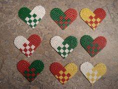 Heart Christmas ornament hama perler beads by Edvind Medvind