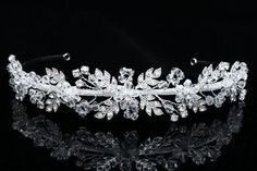 27eb9d0202fff2 Handmade Rhinestone Crystal Flower Leaf Bridal Wedding Headband Tiara Venus  Jewelry,http://