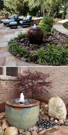 Nice 25 Landscaping Ideas for Front Yards In such a scenario, a container garden is your best choice. If there's an outdoor garden, extending behind or in front of your house, you might constantly consider improving it further Landscaping With Rocks, Front Yard Landscaping, Landscaping Melbourne, Design Jardin, Water Features In The Garden, Outdoor Water Features, Garden Fountains, Fountain Garden, Outdoor Fountains