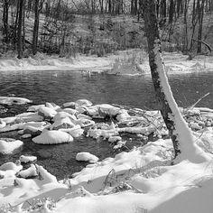 Donald  Erickson - Winter Snow in Minnesota USA - White Earth River