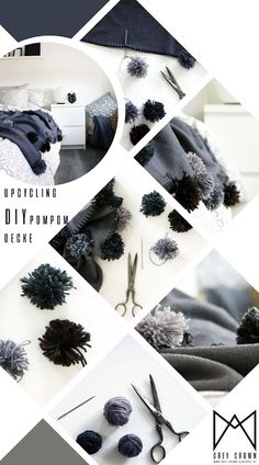 UPCYCLING - DIY PomPom Decke