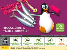 Subtracting Sardines is a fun learning experience with appealing and interactive 3D graphics. This new software is highly intuitive and with many elements to explore, discover and learn! The natural and logical interaction will help your child to develop a solid understanding of basic mathematics.