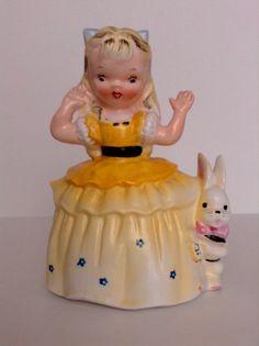 Vintage Alice In Wonderland Planter by Napco RARE