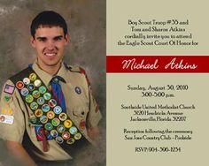 Eagle Scout Invitation
