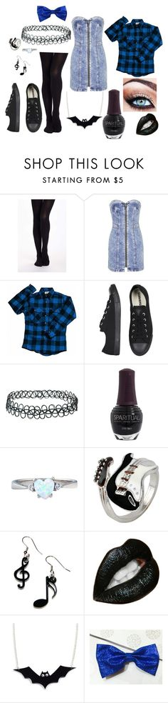 """""""error"""" by xrainstarxx ❤ liked on Polyvore featuring Topshop, Converse, SpaRitual, Tatty Devine, women's clothing, women, female, woman, misses and juniors"""