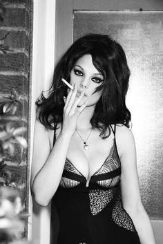 Bianca Balti photographed by Ellen von Unwerth.  #smoking #smoke #cigarette