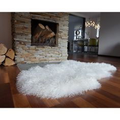 Sheepskin White Xxl British Leicester Sheepskin Rug Curly Wool Rug... (£99) ❤ liked on Polyvore featuring home, rugs, dark olive, floor & rugs, home & living, sheep-skin rug, sheepskin rug, white wool area rug, outdoor floor covering and sheepskin area rug