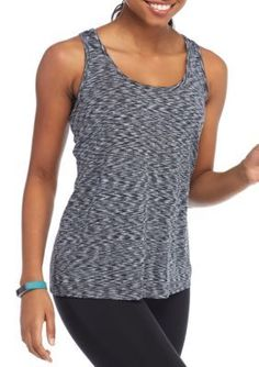 Charmed Hearts Girls' Tank With Criss Cross Back - Heather Charcoal - Xl
