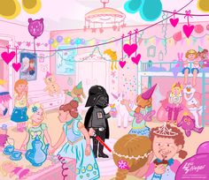 out of place #cartoon #vader #starwars