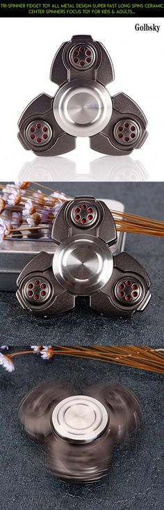 Tri-Spinner Fidget Toy All Metal Design Super Fast Long Spins Ceramic Center Spinners Focus Toy for Kids & Adults Focus Anxiety Relief Toys (Black) #tech #all #spinner #technology #products #camera #drone #fpv #kit #racing #gadgets #shopping #metal #plans #parts